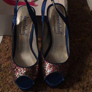 Size 6.  5.5 inch heel. 2 inch front platform.